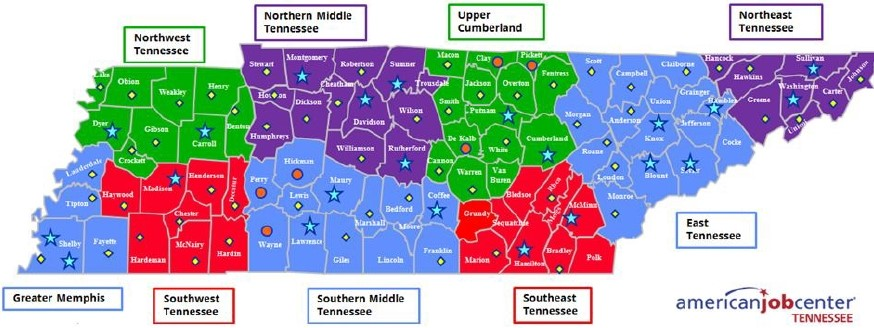 unemployment tennessee claims tn filed wlaf map state nashville ending across april week latest